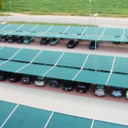 Tettoia di copertura per ampio parcheggio