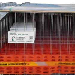 Transenne con rete arancione da cantiere plastificata